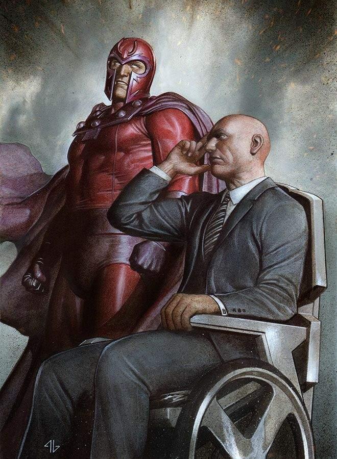 magneto professeur x ami
