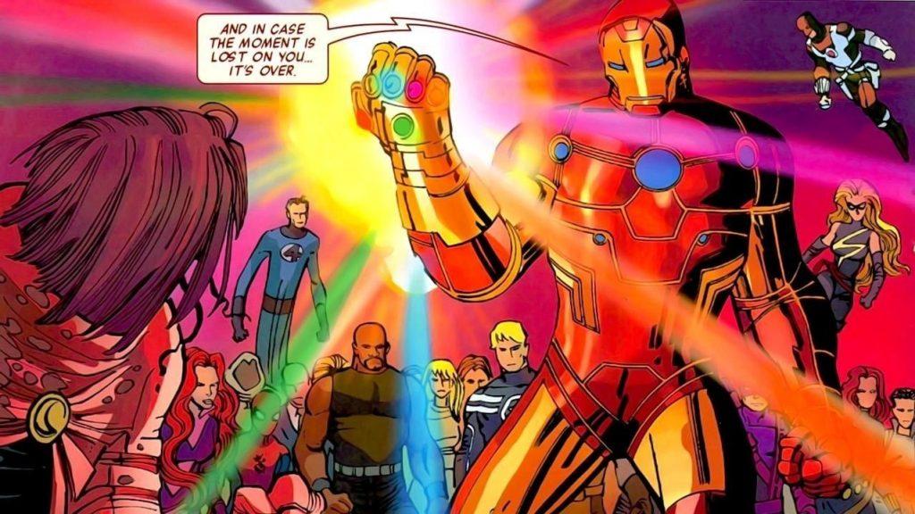 iron man comics thanos