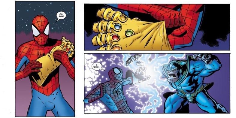 spiderman thanos infini