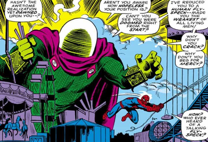 origine mysterio spiderman